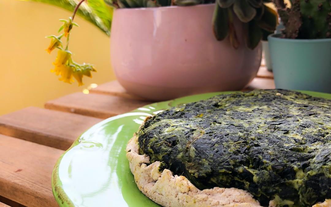 Torta light di spinaci