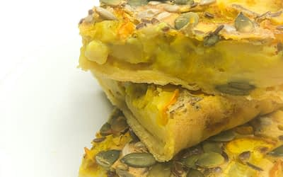 Cecina con zucchine gialle
