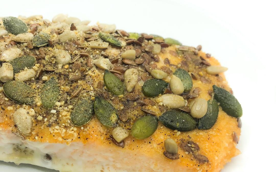 Salmone in crosta di semi